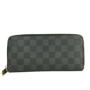 Auth Louis Vuitton Graphite Vertical Zippy Wallet